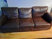 2x Echtleder Couch