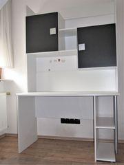 Schreibtisch mit Überbau für Kinderzimmer