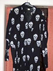 Totenkopfhemd mit großen Skulls für
