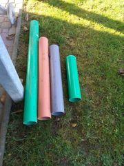 4 PVC Kanalrohre ohne Muffe