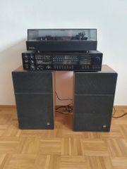 SABA Stereoanlage mit Plattenspieler und