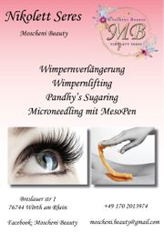 Wimpernverlängerung Lifting Sugaring und Microneedling