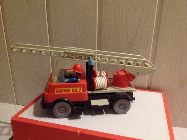 Playmobil - Klicky 1975 - Feuerwehr-Auto 3236