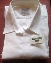 Herrenoberhemd Gr 45 neu weiß