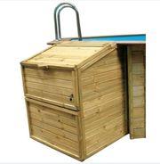 Technikhaus schacht Holzpool - neuwertig