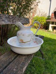 Jugendstil Waschtisch-Set Kanne und Waschschüssel