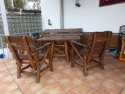 Gartensitzgruppe aus massiven Holz
