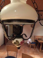 Schmiedeeisen-Keramiklampe Wie Neu