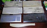 6 alte Tastaturen