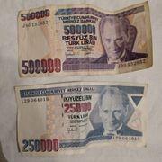 Ehem Geldscheine Türkei 250 000