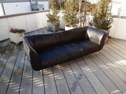 2-teilige Ledercouch Sofa aus Leder