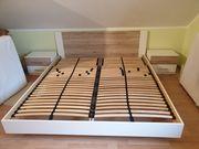 Bett 180×200 inkl Lattenrost Nachttisch