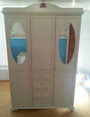 Kleiderschrank Schrank 3-türig mit Spiegeln