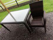 Gartentisch mit 4 Stühlen polyrattan