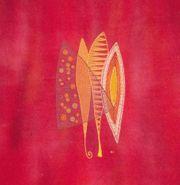 Textilkunst Stickerei auf Seide Motiv