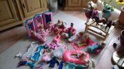 Barbiepuppen Pferde Kutsche Wohnmobil und