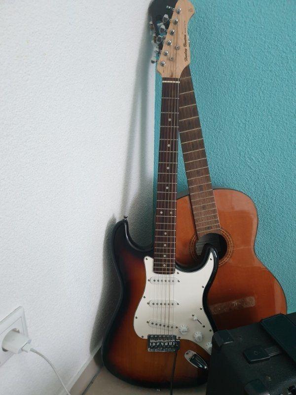 e gitarre und verstärker von