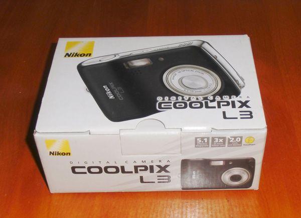 TOP - Nikon Coolpix L3 BLACK