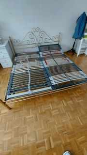 Bett Doppelbett mit Lattenrost