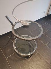Glas Tisch mit Moderne Lampe