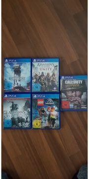zum Verkauf sind 4 Spiel