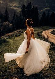 Wunderschönes rückenfreies Brautkleid Hochzeitskleid Gr