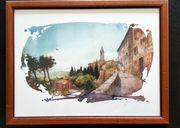 Kunstdruck hinter Glas Landschaften Toskana -
