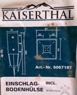 7 Bodeneinschlaghülsen 4 neu 91: Kleinanzeigen aus Offenheim Ebersfelder Hof - Rubrik Sonstiges für den Garten, Balkon, Terrasse