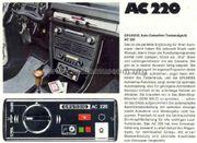 Autoradio Grundig Radio- Auto-Cassetten-Tonbandgerät AC220