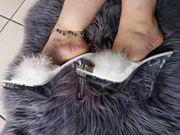 sexy getragene high heels schuhe