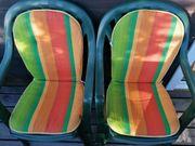 Hochlehner-Gartenstühle mit Sitzkissen