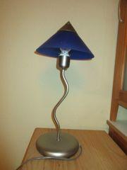 Nachttischlampe blau
