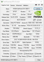 NVidia GTX 1050 ti Zotac