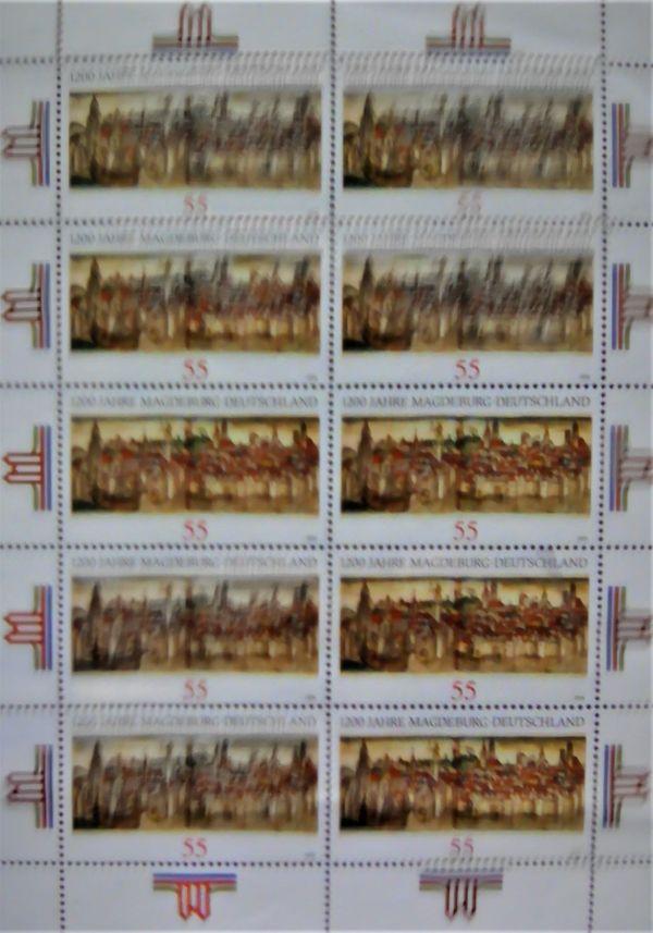 Fehldruck 1200 Jahre Magdeburg