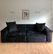 Sofa Couch schwarz Mikrofaser von