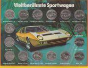 WELTBERÜHMTE SPORTWAGEN - SAMMELMÜNZEN SHELL - 70er