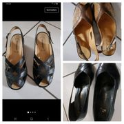 Sandalen Größe 38 Leder schwarz