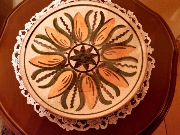 DDR-Keramikteller handbemalt Thüringen