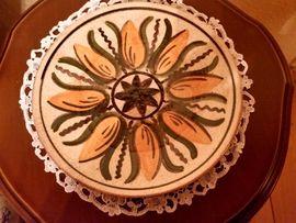 DDR-Keramikteller, handbemalt (Thüringen)!