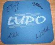 Cup Lupo Mauspad mit Fahrer-Autogrammen