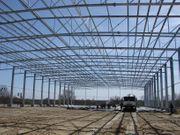 Halle und Herstellung von Stahlkonstruktionen