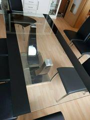 Moderner Glas-Esstisch L 2 x