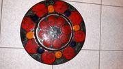 Wandteller Keramik Steingutteller Vintage Retro