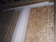 2 Stk Lamellenvorhang weiß 1m
