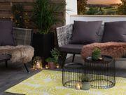 Outdoor Teppich gelb 120 x