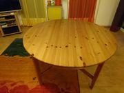 Massivholztisch - rund ausziehbar