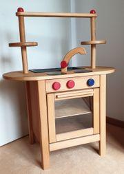 Kinderherd -küche aus Naturholz neuwertig