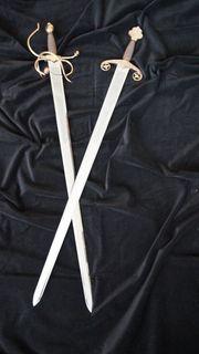 2 Dekoschwerter Edelstahl zu verkaufen