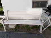 Gartenbank weiß 170cm