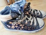 Skechers dunkelblau Jeans gold Glitzer